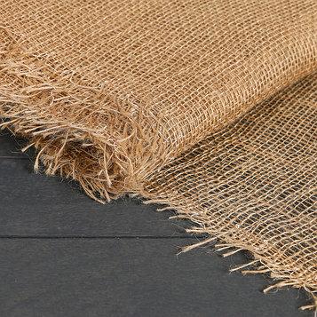 Джут натуральный, 0,95 × 5 м, плотность 190 г/м², плетение 34/24