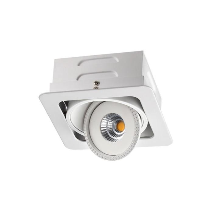 Встраиваемый светильник светодиодный Novotech, 15 Вт, 220 В, 160x160 мм, d=60 мм, белый