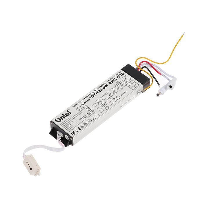 Блок питания аварийного освещения для панелей Uniel Effective, 6Вт,IP20,Время работы 90 мин.
