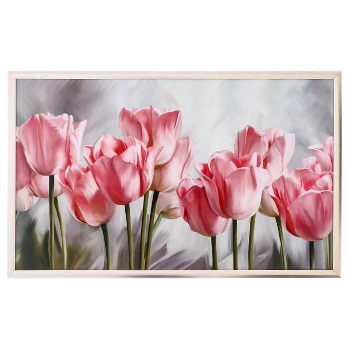 """Картина """"Розовые тюльпаны"""" 64*104 см"""