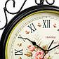"""Часы настенные двойные, серия: Садовые, """"Плиего"""", черные , 35х9х53 см, микс, фото 7"""