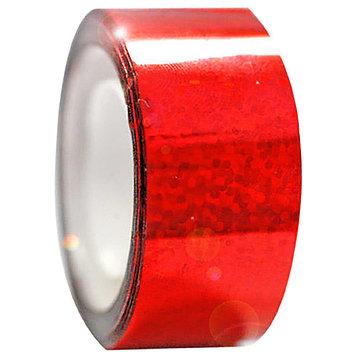 Обмотка для гимнастических булав и обручей Diamond клейкая, цвет красный металлик