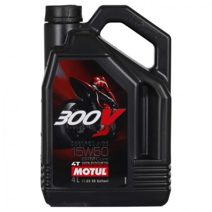 Моторное масло MOTUL 300 V 4T Road Racing 15W-50, 4 л