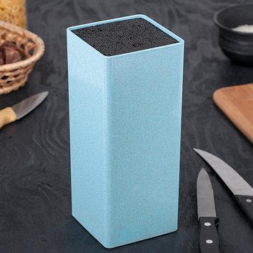 Подставка для ножей «Нежность», 22×9 см, цвет голубой