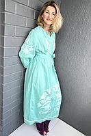 Женское летнее бирюзовое платье Pavlova 113 42р.