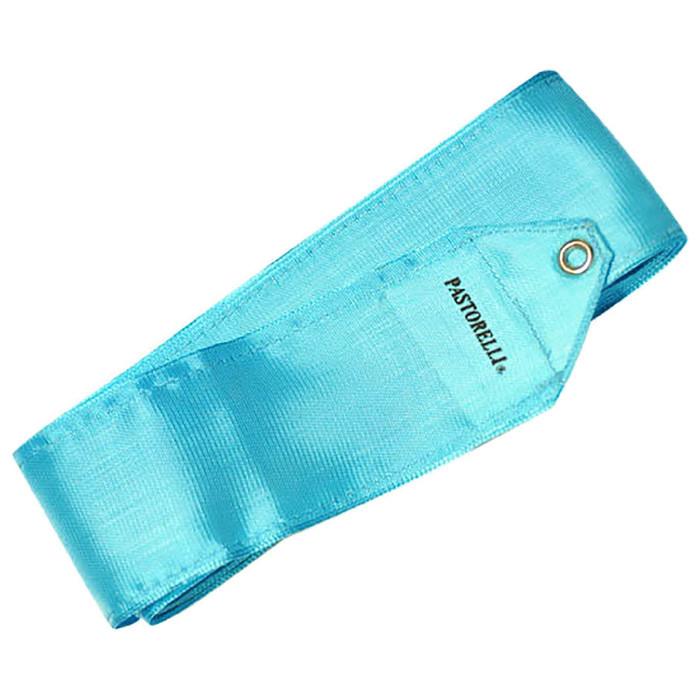 Лента гимнастическая PASTORELLI одноцветная 4 м, голубой