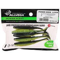 Приманка съедобная Allvega Power Swim 8,5 см, 5,5 г, salad black 5 шт.
