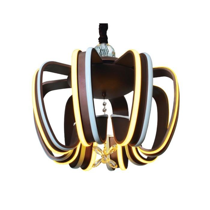 Люстра Double 160Вт LED 3000К, 6400К кофе с ПДУ