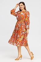 Женское летнее шифоновое оранжевое платье Vita 21с2-005VT-30-1 48р.