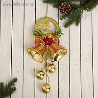 """Украшение новогоднее """"Колокольчик"""" олень и красная звезда, 15х30 см"""