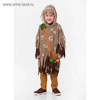 Карнавальный костюм «Леший», текстиль, сорочка, накидка, р. 34, рост 134 см