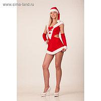 Карнавальный костюм «Леди Санта», платье, шапка, р. 44-46