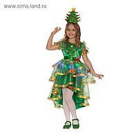 Карнавальный костюм «Ёлочка лучистая», платье, головной убор, р. 32, рост 122 см