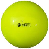 Мяч гимнастический Pastorelli New Generation, 18 см, FIG, цвет жёлтый флуоресцентный