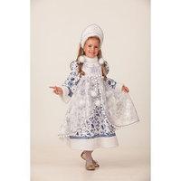 Карнавальный костюм 'Снегурочка Новогодняя', платье, головной убор, р. 30, рост 116 см