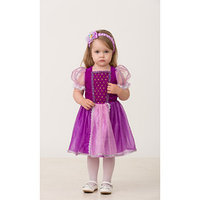 Карнавальный костюм 'Принцесса Рапунцель', текстиль, (платье, повязка), размер 26, рост 92 см