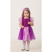 Карнавальный костюм 'Принцесса Рапунцель', текстиль, (платье, повязка), размер 28, рост 98 см