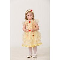 Карнавальный костюм 'Принцесса Белль', текстиль, платье, повязка, р. 28, рост 98 см
