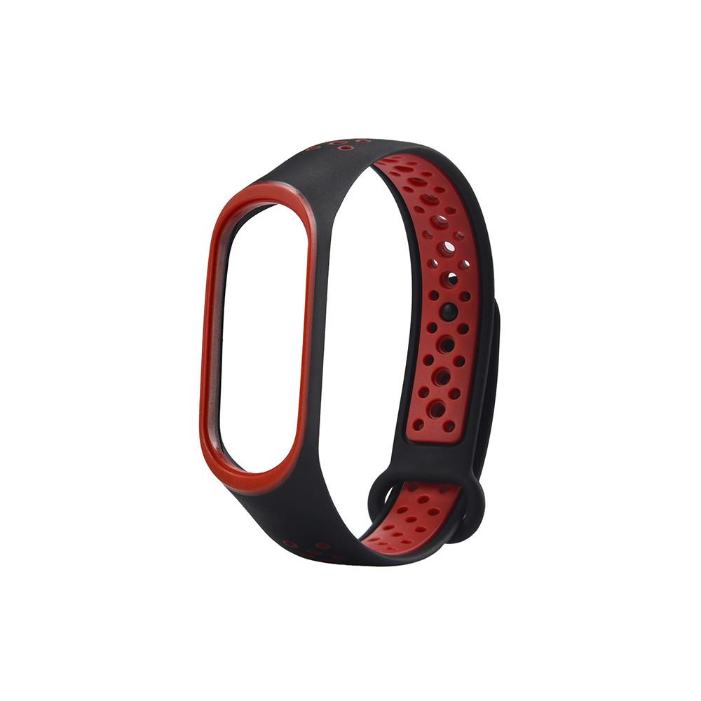Ремешок для смарт-браслетов Xiaomi Mi Band 5, Nike, Copy, Red/Black