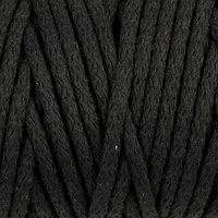 Шнур для вязания 'Пухлый' 100 хлопок ширина 5мм 100м (черный)