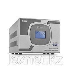 Стабилизатор (AVR), SVC, R-9000, Мощность 9000ВА/7000Вт, LCD-дисплей, Диапазон работы AVR: 110-275В, Клеммная