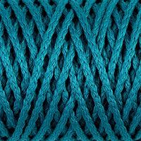 Шнур для вязания 'Классик' без сердечника 100 полиэфир ширина 4мм 100м (морская волна)