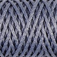 Шнур для вязания 'Классик' без сердечника 100 полиэфир ширина 4мм 100м (голубой)