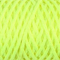 Шнур для вязания 'Классик' без сердечника 100 полиэфир ширина 4мм 100м (желтый люмин.)