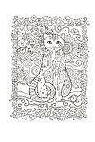 Сарнат М.: Котики. Блокнот-раскраска, фото 5