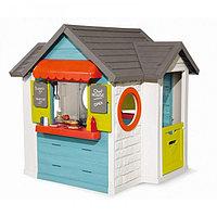 Домик детский для улицы 3 в 1: садовый домик, ресторан и  магазин Smoby