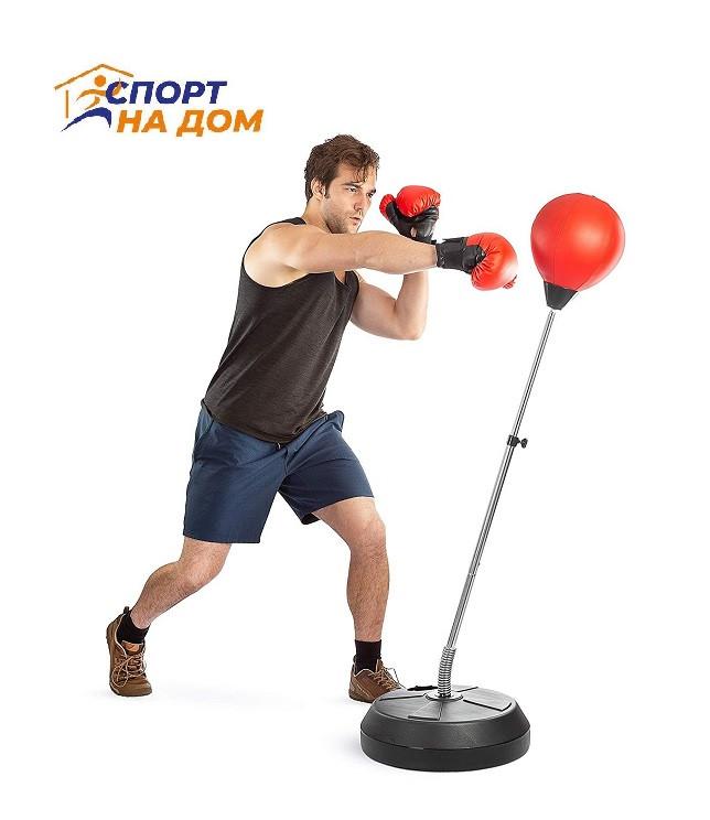 Боксерский набор для отработки удара напольный