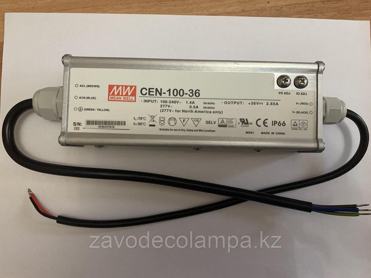 Драйвер / блок питания Mean Well CEN-100-36 (для уличных светильников и прожекторов 100 ватт)