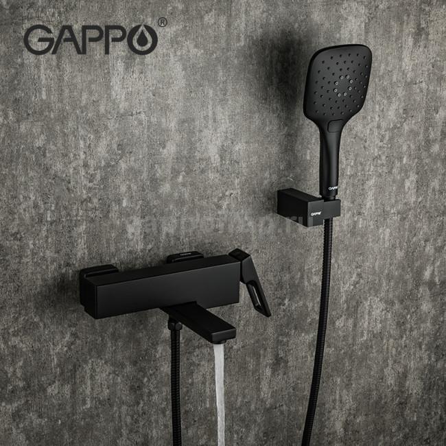 Смеситель для ванны GAPPO g3217-6 черный
