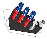 Диспенсер №1 ГЛЯНЦЕВЫЙ для стаканчиков, трубочек и крышек
