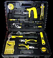 """Набор инструментов STAYER """"STANDART""""  МЕХАНИК для ремонтных работ, в ящике 15 предметов"""