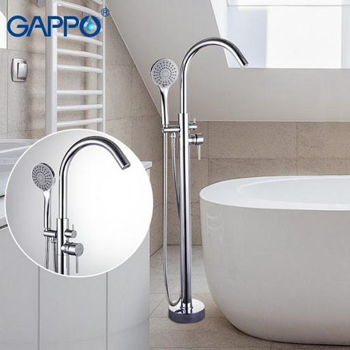 Смеситель для ванны GAPPO g3098 напольный(хром)