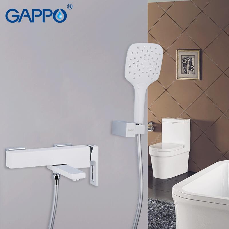 Смеситель для ванны GAPPO g3217-8 белый