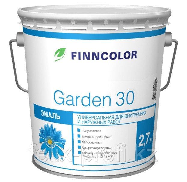 Эмаль алкидная Finncolor Garden 30 полуматовая 0.9л база А
