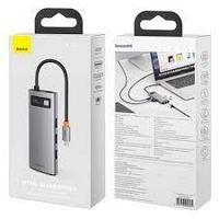 Переходник Baseus Metal Gleam Multifunctional HUB (USB Type-C to 3xUSB 3.0/ HDMI/ USB Type-C PD/ RJ45) 5 A, цв