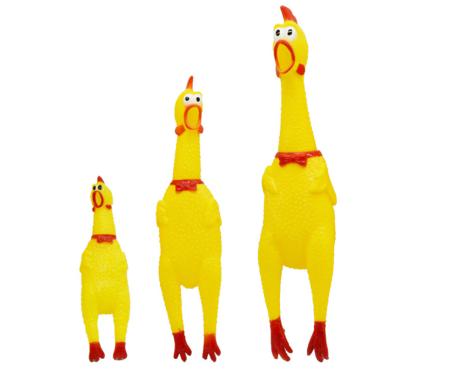"""Кричащая курица """"игрушка антистресс"""" 43 см - фото 3"""