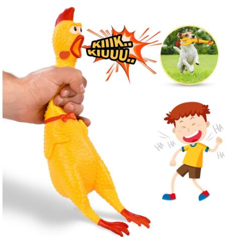 """Кричащая курица """"игрушка антистресс"""" 43 см - фото 5"""