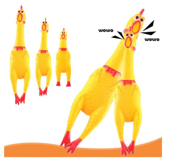 """Кричащая курица """"игрушка антистресс"""" 43 см - фото 4"""
