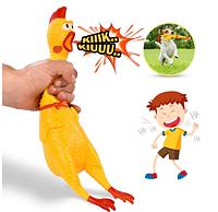 Кричащая курица (игрушка антистресс) 38 см