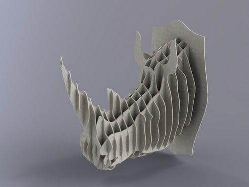 Настенная голова Носорога