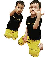 Летняя двойка, футболка шорты для мальчика