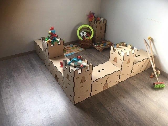 Деревянная угловая большая крепость