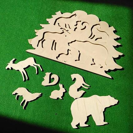 Вкладыши Лесные животные / Развивающие игрушки