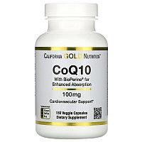 БАД коэнзим Q10 фармацевтической степени чистоты с экстрактом Bioperine, 100 мг, 150 растительных капсул