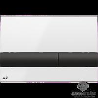 Кнопка для инсталляции Alcaplast, белая/черная M1710-8