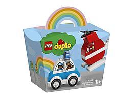 LEGO DUPLO My First Пожарный вертолет и полицейский автомобиль